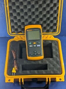 Fluke 51 Ii Thermocouple Thermometer Screen Protector Calibrated Case More