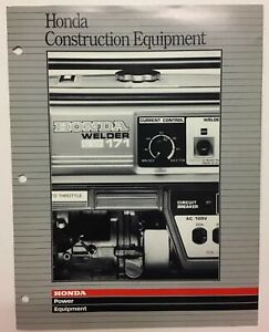 Vintage Honda Construction Power Equipment Water Pumps Generators 1988 Brochure