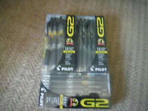 New Lot Of 3 12 Packs 36 Total Pilot G2 Black Xfine Extra Fine 0 5mm Pens