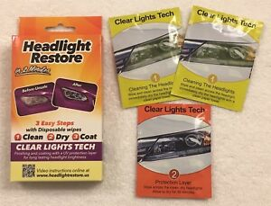 Headlight Restoration Kit From Clear Lights Tech lens Cleaning Wipes Rh1 dandy