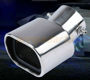 Universal Chrome Stainless Steel Car Rear Dual Exhaust Pipe Tail Muffler Tip