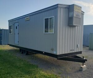 8 x30 Mobile Field Office Trailer With Bathroom Excellent Condition