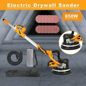 Extendable Drywall Sander 850w 12 Sanding Disks W integrated Vacuum System
