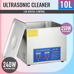 Ultrasonic Cleaner Jewelry Cleaning Machine10l Stainless Steel W heater Timer