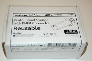 Neoconnect At Home 3ml Bolus Reusable O ring Syringe With Enfit Box Of 50