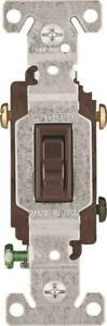 Eaton Wiring Devices 1303b Toggle Switch 120 V Wall Mounting Polycarbonate Brown