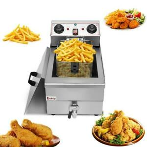 1500w 12l Electric Deep Fryer Commercial Countertop Basket French Fry Restaurant