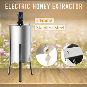 2 frame Electric Honey Extractor Beekeeping Equipment Drum With Stand 140w 24