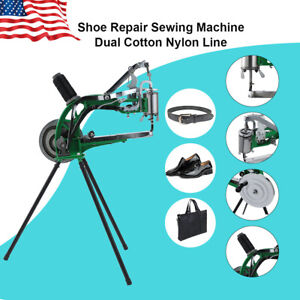 Shoe Repair Sewing Machine Manual Dual Cotton Nylon Line Rubber Leather