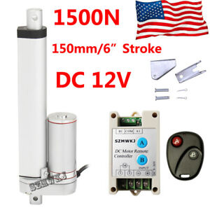 Us 1500n 6 Electric Linear Actuator 330 Pound Max Lift Heavy Duty 12v Dc Motor
