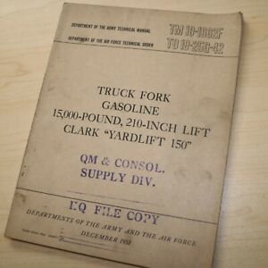 Clark Yardlift 150 Forklift Owner Service Repair Shop Maintenance Manual Book