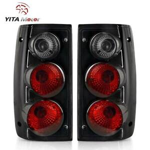 Yitamotor For 1989 1995 Toyota Pickup Truck Tail Lights Black Smoke Rear Lamps