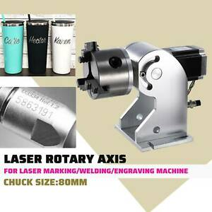 Chunk Laser Rotaion Axis C02 Laser Engraver Cylinder Rotary Attachment Cnc 80mm