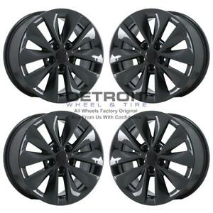 16 Dodge Dart Pvd Black Chrome ps 4 Wheels Rims Factory Oem 2550 2013 2017