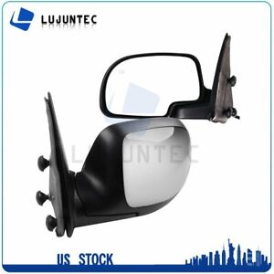 For 1999 02 Chevy Gmc Truck Chrome Heated Power Manual Fold Chrome L R Mirror