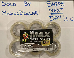 Duck Max Strength Packaging Tape 55 Yd Length 6 Pack clear Total 327yd