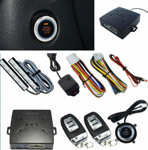 Auto Car Multi function One Key Start Sound light Security Alarm Keyless Entry