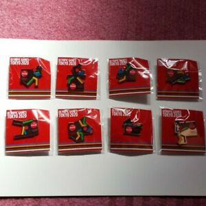 Tokyo 2020 Olympic x Coca-Cola Pin badge Pins 8 complete set New