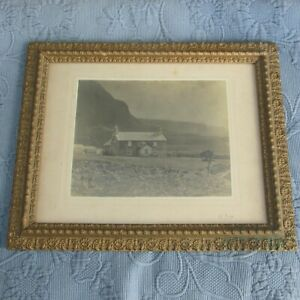 Antique Victorian Aged Gold Picture Frame A Photo Of A Homestead