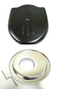 Black Retro Cadillac Style Complete Air Cleaner Kit With 14 Chrome Offset Base