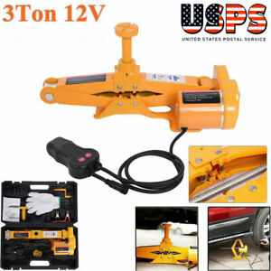12v 3 Ton Heavy Duty Automotive Electric Scissor Jack Car Lifting Impact Wrench
