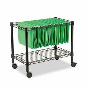Alera Single tier Rolling File Cart 24w X 14d X 21h Black alefw601424bl