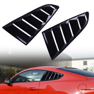 1pair 1 4 Quarter Side Window Louvers Scoop Cover Fit For Ford Mustang 2015 2017