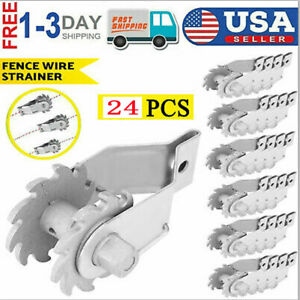 24 Pcs In line Wire Strainer Tensioner Fencing Electric Farm Fence Heavy Duty Us