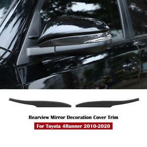 Real Carbon Fiber Exterior Rearview Mirror Cover Trim For Toyota 4runner 2010 20