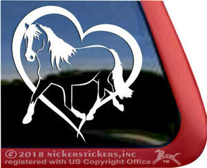 Haflinger Horse Heart Trailer Window Decal