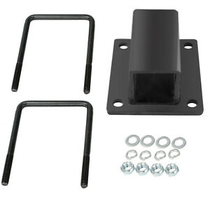 Rv Bumper Receiver Adapter Black Powder Coated Steel Carrier Hitch