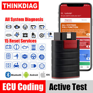 Thinkdiag Bluetooth Obd2 Scanner Ecu Coding Bi directional All System Scan Tool