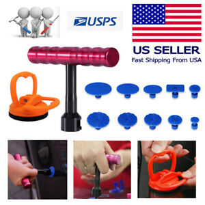 Car Body Paintless Dent Repair Removal Tool Kit Puller Lifter With 10 Tabs