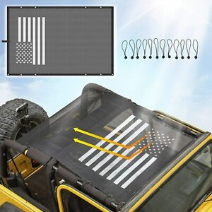 Mesh Roof Sunshade Durable Polyester Bikini Top Cover For 97 06 Jeep Wrangler Tj Fits Jeep Wrangler