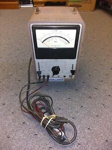 Hp 412a Dc Vacuum Tube Voltmeter Vtvm With Probes Not Working