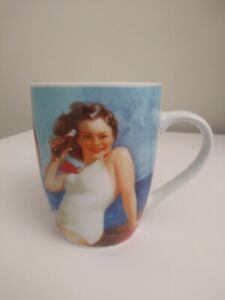 Coca-Cola Gibson Ne Coffee Mug/Cup With Picture of Vintage 1941 Pin Up Girl EUC