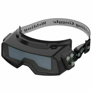 Auto Darkening 1 1 1 2 Lenses Welding Goggles For Weld Cut Grind