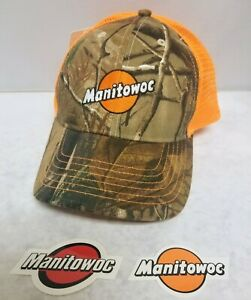 Manitowoc Hat rare And Sticker For Crane Oilfield Mining Construction 3