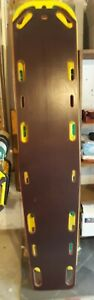 Vintage Bound Tree Corporation Wooden Ems Spine Board Backboard With Runners