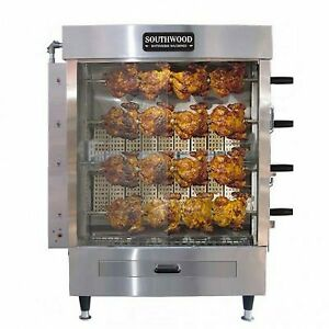 Southwood Rg4 Gas 20 Chicken Commercial Rotisserie Oven Machine Natural Gas