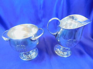 Towle 250 Sterling Silver Sugar Creamer Set Excellent Condition Monogram A