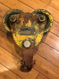 Vintage Budgit I Beam Trolley 1 Ton 2000 Pounds Chain Hoist M1041