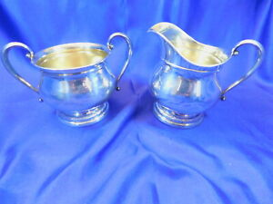 International Prelude C147 Sterling Silver Sugar Creamer Set Very Good A