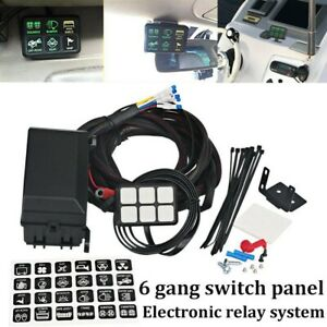 6 Gang Switch Panel Relay System Circuit Control Box For Jeep Wrangler Ld2291