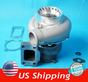 T3 Flange 4 Bolt Gt35 Gt3582 A R 70 Anti Surge Turbo Charger Universal 600 Hp