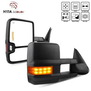 Power Heated Led Signals Tow Mirrors For 03 06 Chevy Silverado 1500 2500 3500