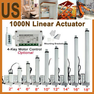 1000n Linear Actuator Dc 12v 14mm s Linear Motor Controller For Window Opener