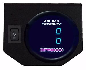 Air Gauge 200psi Dual Digital Display Panel 1 Switch Air Ride Suspension Control