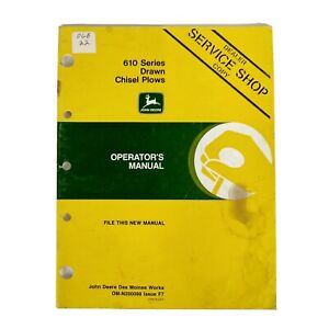 John Deere Operators Manual 610 Series Drawn Chisel Plow Om n200098 Dealers Copy