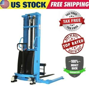 New Eoslift Semi electric Pallet Jack Straddle Stacker 3300 Lbs Cap 118 Lift Us